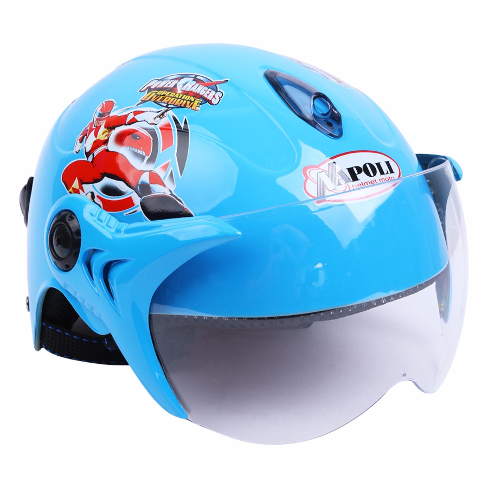 Mũ bảo hiểm trẻ em Napoli 5 anh em siêu nhân N02 XD - Bảo hành