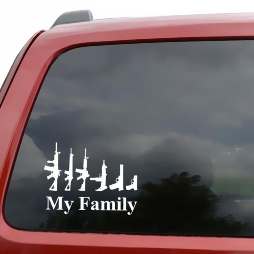 My Family Cool Pattern Car Waterproof Sticker Mechanic Outdoor Window Gi 137 000