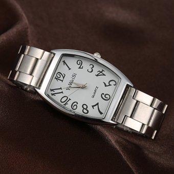 New Famous Brand Casual Quartz Watch Women Luxury Square Watch Sliver - Intl