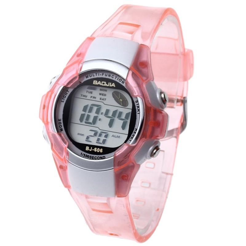 Nơi bán New LED Digital Alarm Clock Sport Children Boy Girl Watch Pink Band - intl