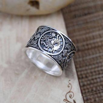 Nhẫn Bạc Nam Tứ Linh Chất Liệu Bạc Thái Cao Cấp - Thương Hiệu Bảo Tín