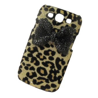 Nơi Bán niceEshop Cute 3D Bow Dot Leopard Pattern Back Case for Samsung Galaxy S3 i9300 (Black) – Intl   niceE shop