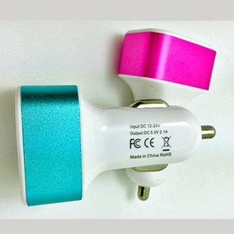 Ổ CHIA 2 ĐẦU VUÔNG USB TRÊN Ô TÔ (Nhiều màu)