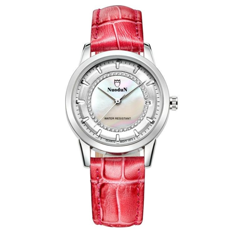 Nơi bán ooplm Norton lady watches watches all-match color trend leisure leather watch strap watch 1973L students (MagentaSilver) - intl