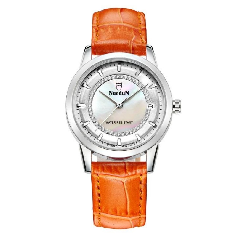 Nơi bán ooplm Norton lady watches watches all-match color trend leisure leather watch strap watch 1973L students (Orange) - intl