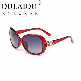 Oulaiou Brand 2017 Europe Style UV 400 Elegant Ladies SunglassesO7011 - intl