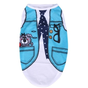 Pet Dog Clothes Spring/Summer Small Dog Clothes T Shirt PetVestCostumes - intl