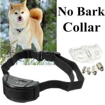 Pet Dog Training Collar Anti Bark No Barking Tone Shock for Small Medium 5-150lb - intl