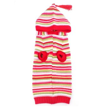 Pet Puppy Warm Jumper Sweater Knit Sweater (Red) - intl