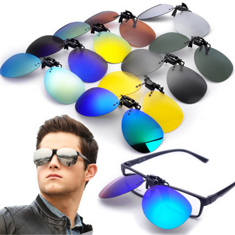 Polarized Clip On Sunglasses Lens Fishing Night Driving UV400 Quicksilver