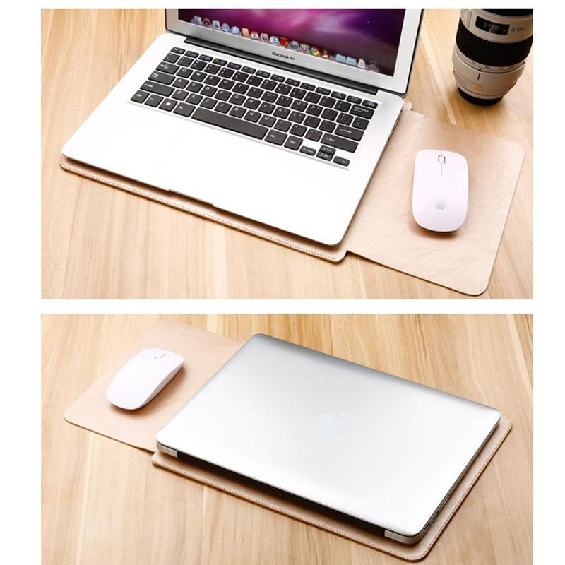 Hình ảnh PU Leather Laptop Bag Sleeve Cover for Macbook air 13.3 inch - intl