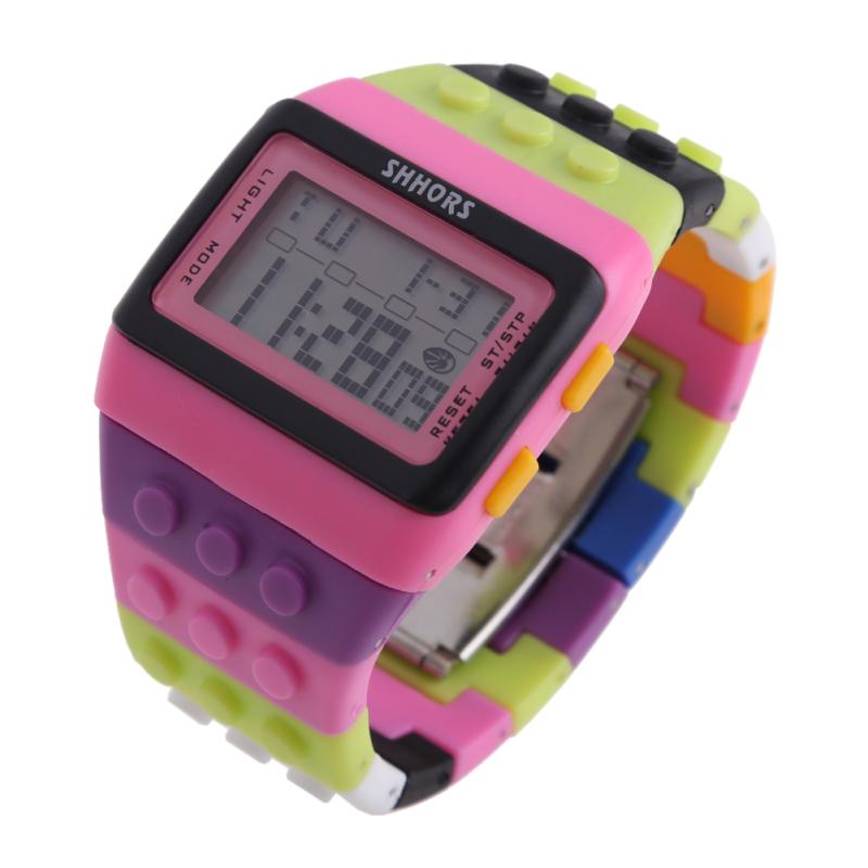 Retro Chic Unisex Digital Constructor Multi Function Watch Sports I - bán chạy