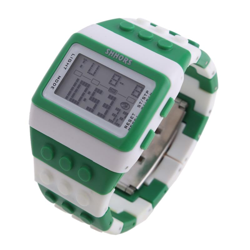 Retro Chic Unisex Digital Constructor Multi Function Watch Sports O - bán chạy
