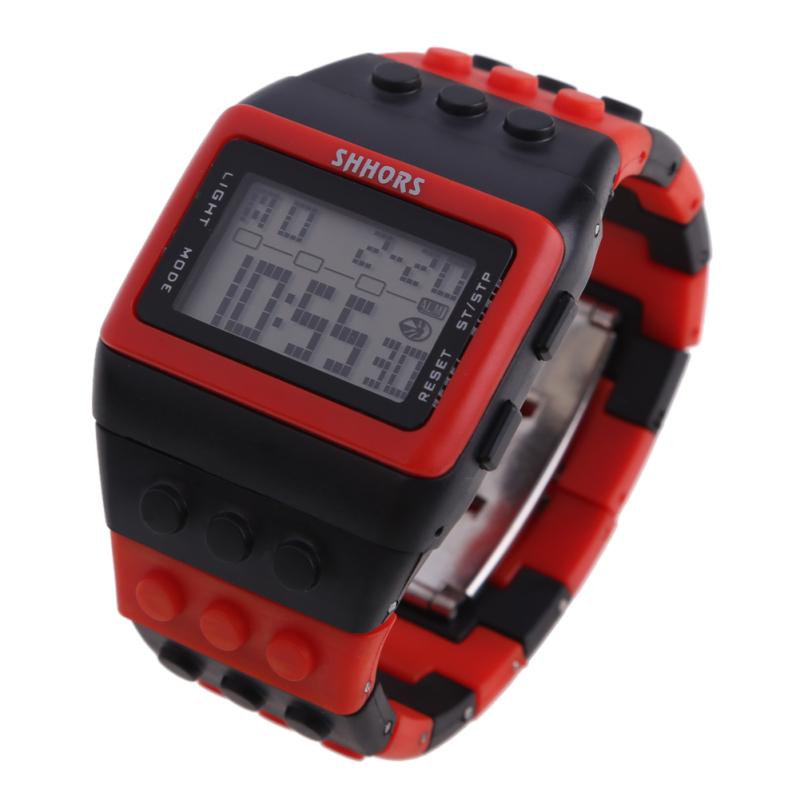 Retro Chic Unisex Digital Constructor Multi Function Watch Sports Q - bán chạy