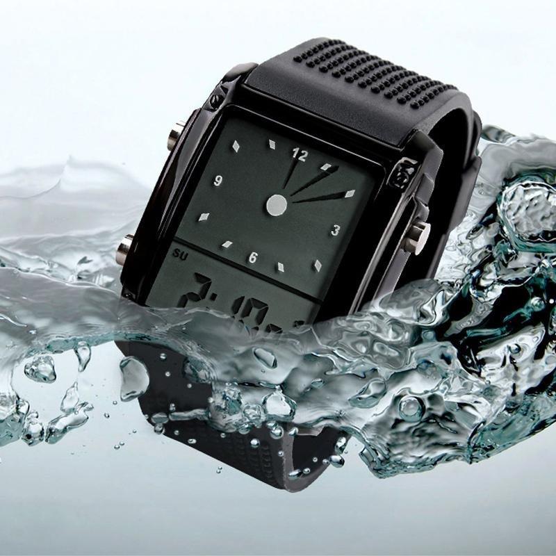 Nơi bán SKMEI Quartz Wristwatch LED Digital Analog Waterproof Digital Watch Black - intl
