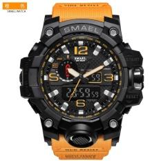 Đánh Giá SMAEL 1545 Pure Color Band Waterproof Sport Watch Digital Analog Dual Display Japan Quartz Watch Gold Orange – intl  Five Star Store