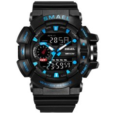 Nơi Bán SMAEL Watch 1436 Men Gold Sports Watches LED Dual Display Outdoor Waterproof Watch S-SHOCK New Male Electronic Wristwatch 1436 – intl