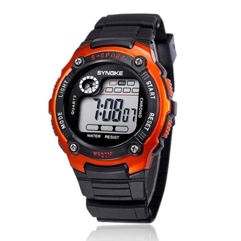 Nơi bán Sports Boy Digital LED Quartz Alarm Date Wrist Watch Waterproof OG - intl