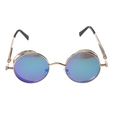 Đánh Giá Steam Punk Vintage Metal Circle Chic Punk Sunglasses(Green)-one size – intl   UNIQUE AMANDA
