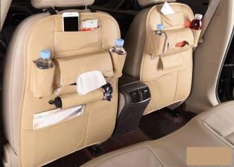 Tấm da treo đồ ghế sau ô tô 64x47 Cm (Be)