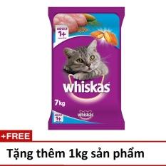 Thức ăn cho mèo Whiskas vị cá biển 7kg + tặng thêm 1kg