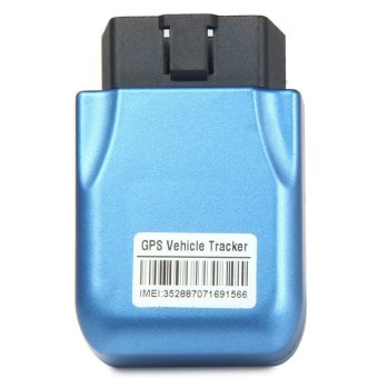 TK206 Car OBDII Interface GPS GPRS Tracker with Geo-fence Function(Blue) - intl