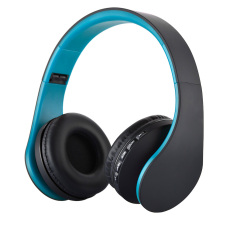 Giá Sốc Tốt đẹp Eshop không dây Bluetooth Stereo Tai nghe EDR Earable Foldable Mic MP3 FM Tai nghe Dành cho Điện thoại thông minh Tablet (Màu Xanh + Đen)  niceE shop