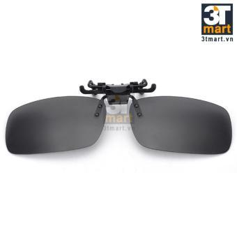 Tròng kính mát kẹp phân cực cho người cận 3Tmart RE02XK (xám khói)