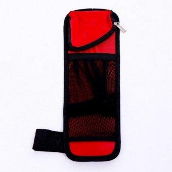 Túi đựng đồ treo thành ghế xe ô tô TI226 (Đỏ phối Đen)