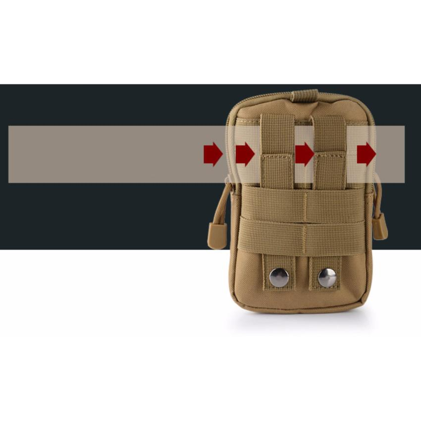 Túi EDC đeo hông du lịch chống nước (Màu CP) + Tặng kèm 1 silicon chống ngủ ngáy