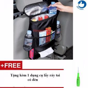 Túi giữ nhiệt treo lưng ghế ô tô + Tặng kèm 1 dụng cụ lấy ráy taicó đèn