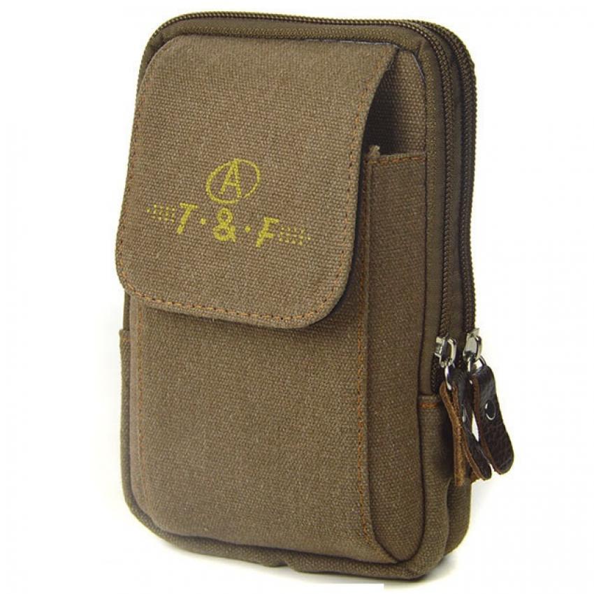 Túi ví đeo thắt lưng thể thao cao cấp H143 (Nâu đỏ)