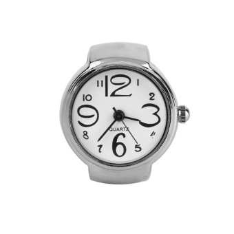 UINN Ring Watch Quartz Finger Watches Rings Gifts Jewelry Steel Ring Watches White - intl