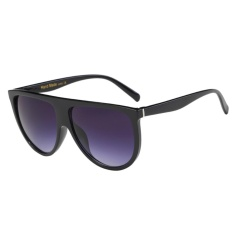 Giá Khuyến Mại Unisex Fashion Twin-beam Big Frame Full Match Sunglasses(Black) – intl   sportschannel