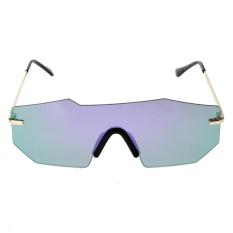 Giá Khuyến Mại Unisex Personalized Two-beam Mirror Sunglasses (Purple Quicksilver) – intl  crystalawaking