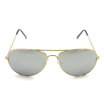 UV400 Men Hot Sale Metal Vintage Sunglasses Gold