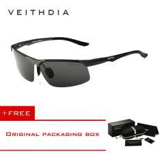 โปรโมชั่น Veithdia อลูมิเนียมแมกนีเซียมผู้ชายแว่นตากันแดดโพลาไรซ์ดวงอาทิตย์แว่นตากลางคืนวิสัยทัศน์กระจกแว่นสายตาผู้ชายแว่นตากันแดดชาย 6502 Veithdia ใหม่ล่าสุด