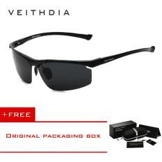 โปรโมชั่น Veithdia แว่นตากันแดดอลูมิเนียมแมกนีเซียมชายขอบแว่นตากันแดด Polarized Uv400 แว่นตากันแดดแว่นตาอุปกรณ์เสริมสำหรับผู้ชายกระจกเคลือบสีฟ้า 6587 จีน