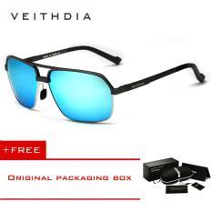 ขาย Veithdia อลูมิเนียมแม็กนีเซียมอัลลอยแว่นตากันแดด Polarized Men สแควร์วินเทจชายแว่นตากันแดดแว่นตา 6521 Veithdia ถูก