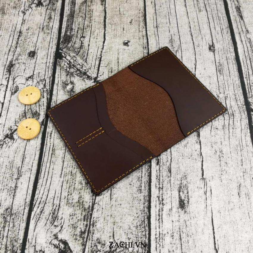 Ví đựng passport da bò handmade