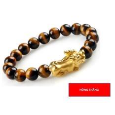 Giá Sốc Vòng đeo tay mắt hổ tỳ hưu 10 li (Vàng) – Phong thủy may mắn phát tài