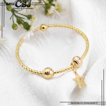 Vòng - lắc tay inox nữ thời trang mạ vàng 24k mẫu LT311 cao cấp đẹpgiá rẻ
