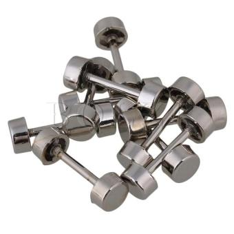 VSS 2Cm Shaft Length Belt Stud Button Screwback Set Of 10 Silver - intl