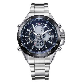 Giá Sốc WEIDE Men 's Stainless Steel Watch Multi – Functional Military Watch Outdoor Climbing Sports Swiss Waterproof Watches WH1103 -Black surface – intl