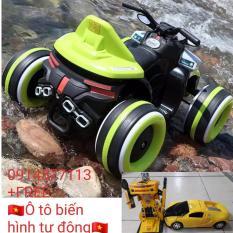 Xe Máy Điện 4 bánh Trẻ em SMT-918 ( tặng ô tô biến hình tự động )