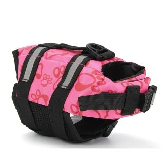 XXS Pet Aquatic Reflective Preserver Float Vest Dog Saver Safety Life Jacket Pink#01 - intl