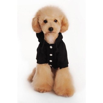 YJJZB Fashion Soft Cotton Dog Hoodie Pet Clothes - intl