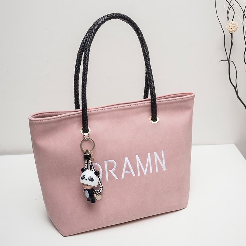 กระเป๋าถือ นักเรียน ผู้หญิง วัยรุ่น ชลบุรี กระเป๋าสะพายใบใหญ่หญิง 2019 ใหม่ผู้หญิงกระเป๋ากระเป๋าสะพายไหล่สไตล์เกาหลีแฟชั่นสบายๆแบบลำลองความจุขนาดใหญ่กระเป๋าถือสครับขัดผิว Tote Bag