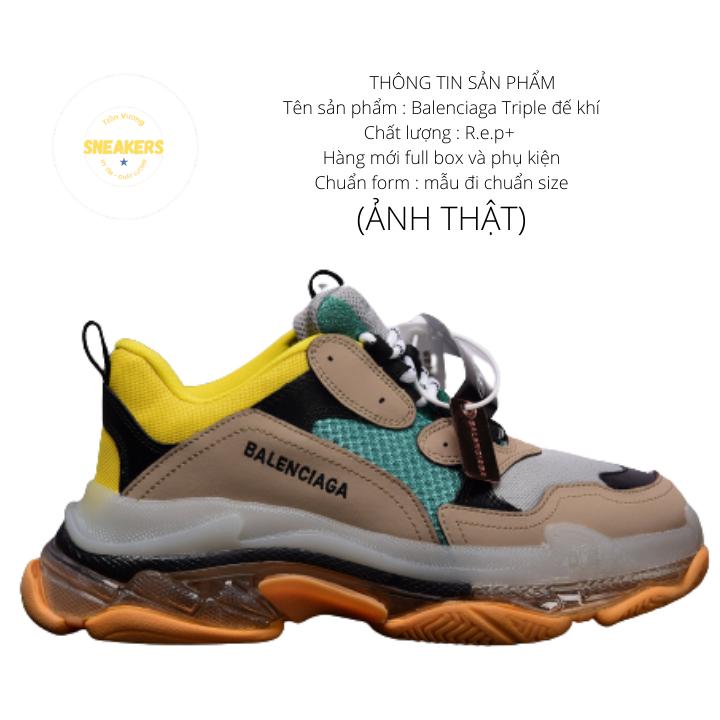 Giày nam nữ sneaker thể thao Ba.Len.cia.ga đế khí đế tách phân tầng chuẩn chữ 6