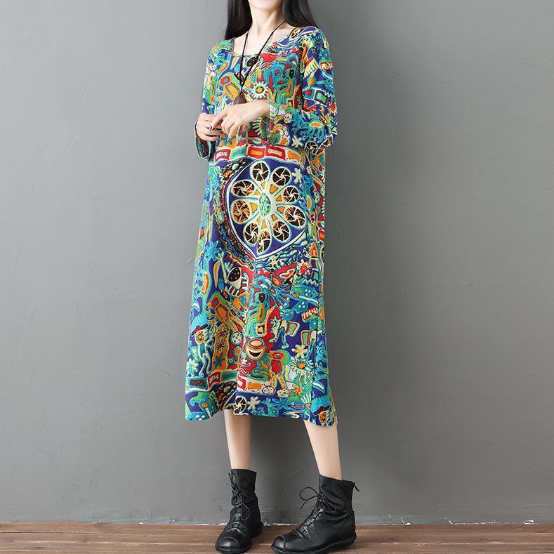 Model baru gaun panjang 2018 busana musim gugur Lengan panjang Gaya Korea ukuran besar baju wanita